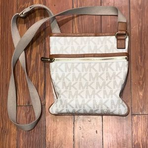 Michael Kors Crossbody Bag - Brown/Tan/Cream